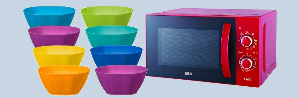 Microwave Bowl With Vented Lid Plate Cover Divided Plates