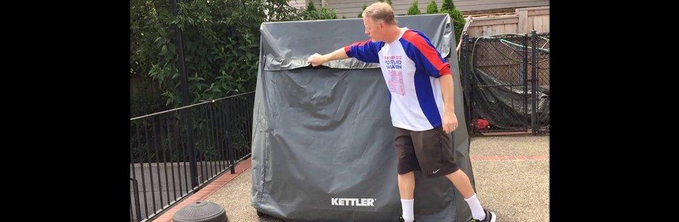 Kettler Heavy Duty Outdoor Table Tennis Cover Butterfly
